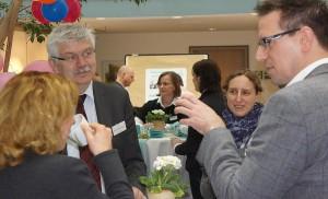 Der Neujahrsempfang der FAW bot den Reha-Experten neben einem Vortrag auch Raum zum fachlichen Austausch
