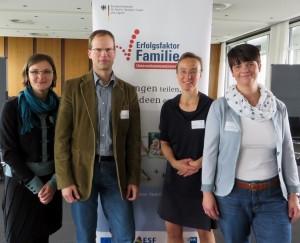 Jekaterina Rudolph (Referentin Netzwerk), Heiko Appelbaum, Sofie Geisel und Eva-Marie Wenzel (v. l.) tauschten sich jetzt in Essen aus.