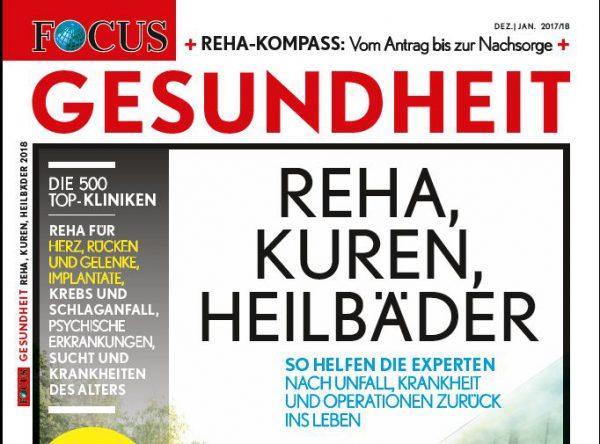 Focus-Gesundheit: Die Top-Rehakliniken Deutschlands