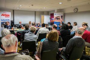 Öffentliches Symposium - Bundesverband Auge e.V. mit Klaus Weckwerth, Dieter Staubitzer, Dr. Susanne Fiege, Dr. Dr. med. Ekkehard Jecht (v.l.n.r.) Foto: www.juergenklieber.de