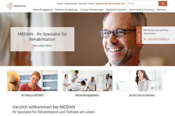 Neue MEDIAN Website – Umfassendes Expertenwissen und vielfältige Hilfeangebote