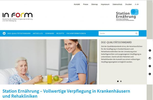 """Relaunch der Internetseite """"Station Ernährung"""""""