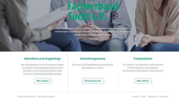 Neuer Internetauftritt des Fachverbandes Sucht e.V.