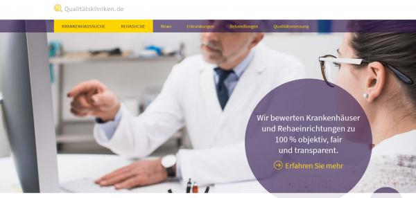 Qualitätskliniken.de: Relaunch Reha-Portal