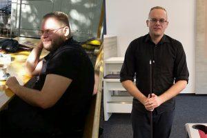 Kai Voss vor einem Jahr und heute © Kai Voss, privat/M. Lindner, BFW Leipzig