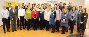 Die Teilnehmerinnen und Teilnehmer des Koordinierungsausschusses im Berufsförderungswerk Berlin-Brandenburg e. V. am Standort Berlin - Charlottenburg.