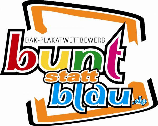 """Logo """"bunt statt blau - Kunst gegen Komasaufen"""" Quellenangabe: """"obs/DAK-Gesundheit"""""""