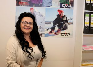 Simona Valentini an Ihrem neuen Arbeitsplatz.