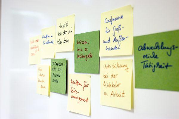 Sind die Wünsche realistisch? Das will man in der Berufsfindung/ Arbeitserprobung am BTZ Chemnitz herausfinden. © H. Blumentritt, BFW Leipzig