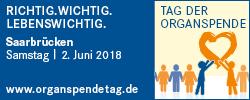 Bundesweiter Tag der Organspende am 2. Juni 2018 in Saarbrücken
