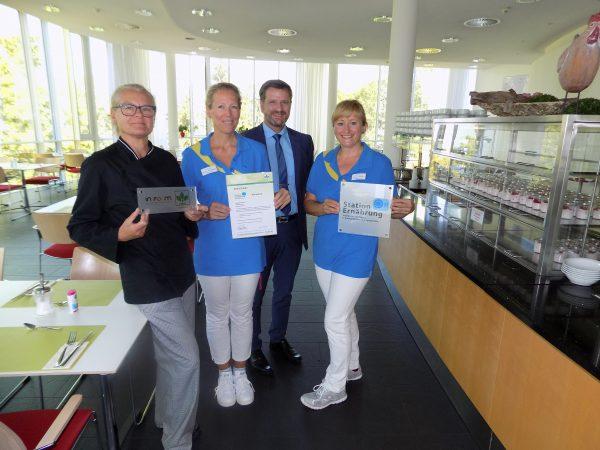 Deutsche Gesellschaft für Ernährung bestätigt der Rehaklinik Höhenblick höchste Verpflegungsqualität