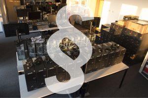 Über 100 Rechner der Firma Lecos GmbH wurden von der IT-Ausbildung des BFW Leipzig für den 72. Deutschen Juristentag vorbereitet. © M. Lindner, BFW Leipzig