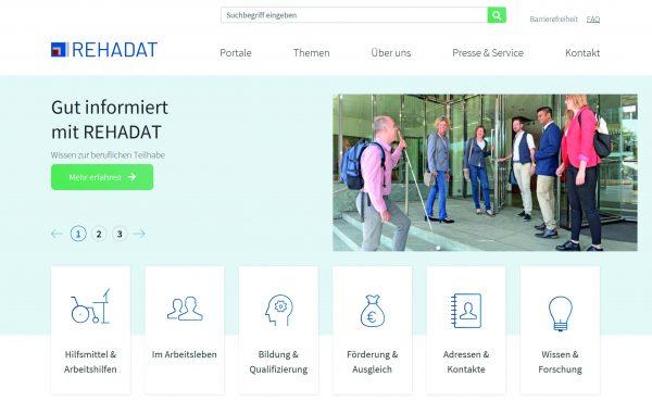 Neue REHADAT-Homepage veröffentlicht: Alle Informationen zur beruflichen Teilhabe einfacher zu finden
