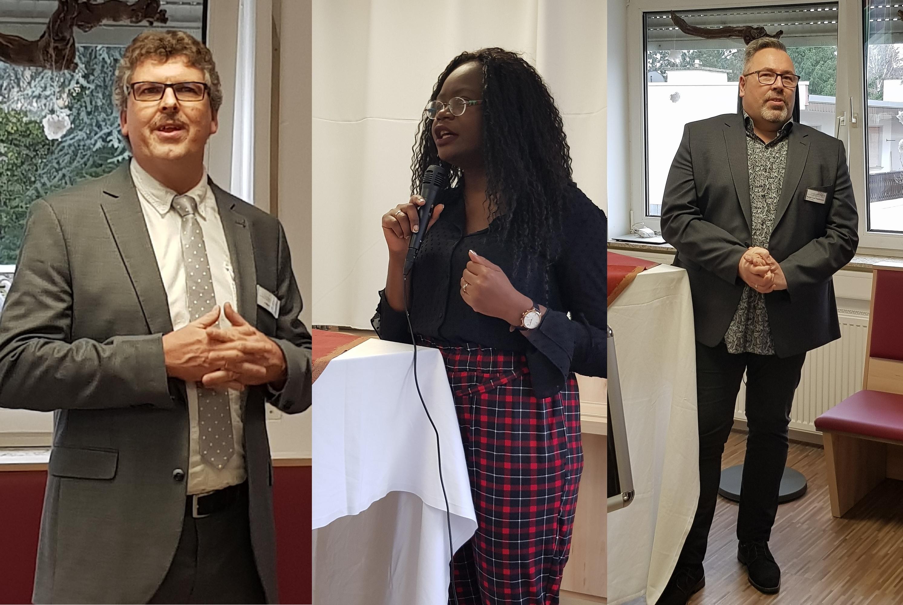 v.l.n.r. Volkmar Hanf (Akademieleiter FAW Mainz), Nathalie Tsouandong (Referentin), Ralph von Harlessem (Leiter BTZ Mainz, FAW)
