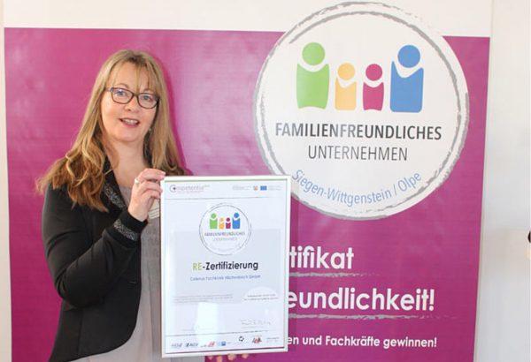 """Erneute Auszeichnung als """"Familienfreundliches Unternehmen"""""""