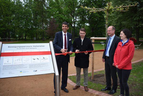 Rehaklinik Hohenelse mit neuer Pflegezentrale und Fitness-Parcours