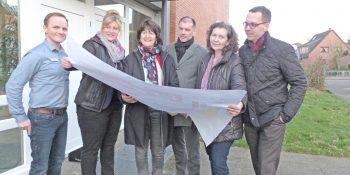 Zum Bild: von links: Ralf Razek, Julia Bartz, MdB Astrid Grotelüschen, Pierre Noster, Claudia Janßen, Lars Pallinger