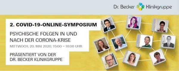 Gesundheitsmitarbeitende im Fokus: Dr. Becker Klinikgruppe lädt zum zweiten Online-Symposium zu den psychischen Folgen von Corona