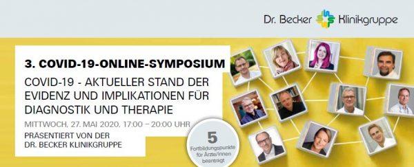 Diagnostik und Therapie von COVID-19 – die Dr. Becker Klinikgruppe lädt zu 3. virtuellem Corona-Symposium