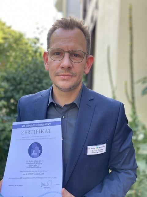 Dr. Becker Kiliani-Klinik erneut für Multiple Sklerose-Behandlung ausgezeichnet