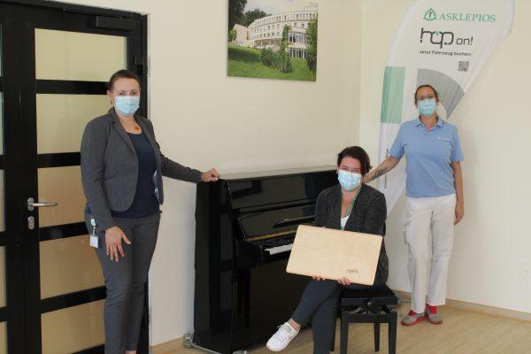 Musik liegt in der Luft! Neues Therapieangebot in der Asklepios Neurologischen Klinik Falkenstein