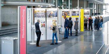 Die Wanderausstellung des Deutschen Bundestages präsentiert sich im Berufsförderungswerk Leipzig (hier: Aufnahme aus dem Paul-Löbe-Haus in Berlin) © Deutscher Bundestag/Thomas Trutschel/photothek.net