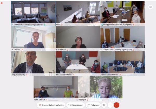 Erstmals virtuell: Der Einführungstag für neue Mitarbeitende der RehaZentren Baden-Württemberg