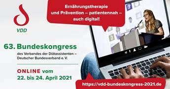 Online-Kongress für Ernährungstherapie und Prävention vom 22. bis 24.04.2021